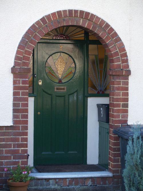 No Porch Front Door Entrance